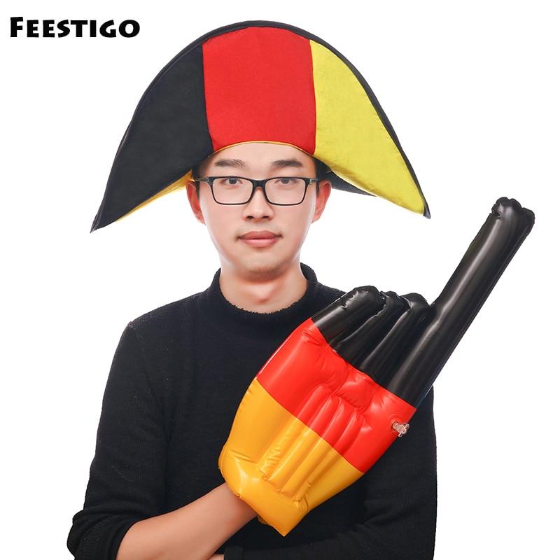 1 unids 2018 Rusia Copa del Mundo Alemania animando squard traje Napoleón  fútbol fnas fiesta temática apoyos Alemania bandera sombrero c7eeef2766db1