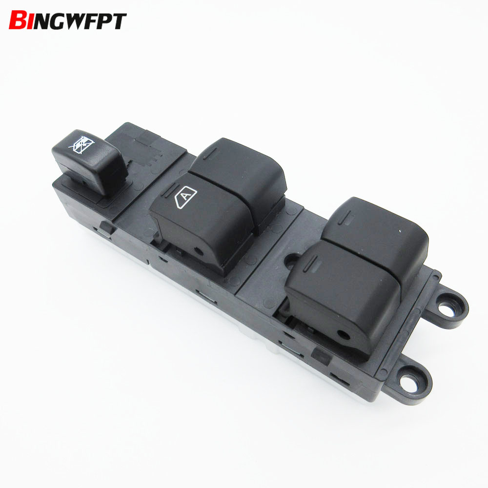 Front Left Master Electric window lifter switch for Navara D40 04-16 25401-4X00D