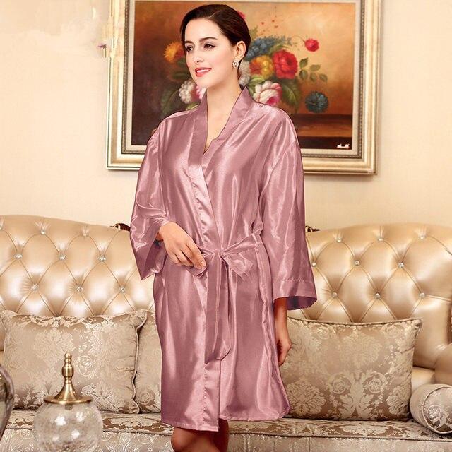 Online-Shop Hochzeit dressing kleider Braut Mini Robe Kimono Robe ...