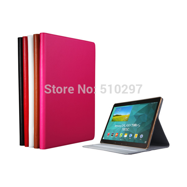 Luxury Genuine Leather  stand  Smart Cover Flip Book Case for Samsung Galaxy Tab S 10.5 (SM-T800 SM-T805) T805C keymao luxury flip leather case for samsung galaxy s7 edge