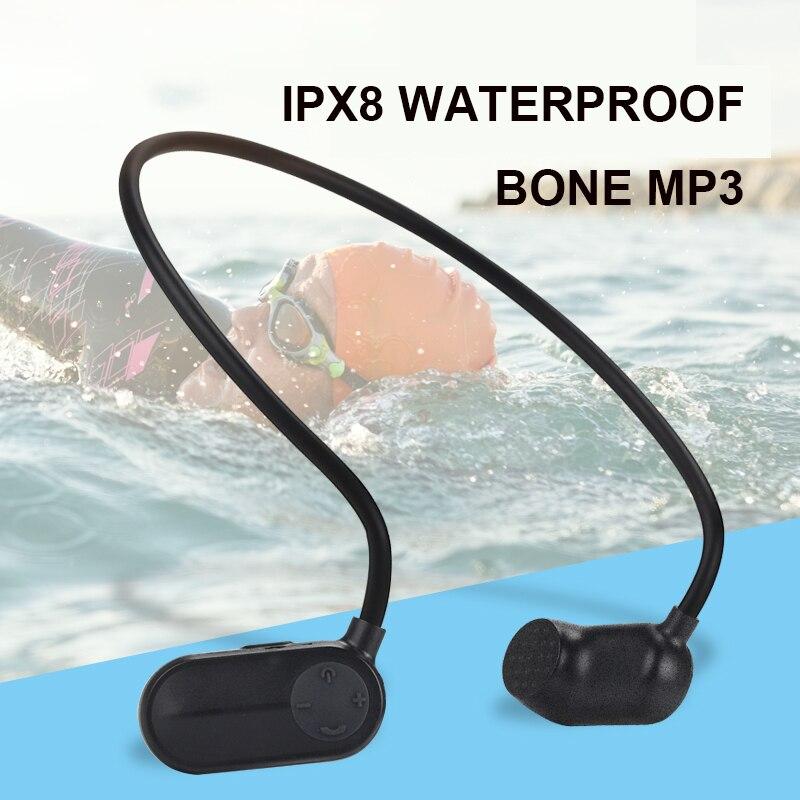 OKCSC os Conduction MP3 HiFi lecteur de musique IPX8 étanche 8G 16G natation Sport joueurs de plein air écouteurs Style USB Charge