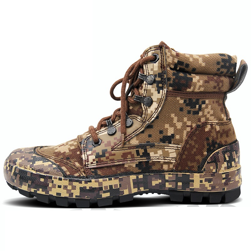 Men Outdoor Camouflage Boots Training Shoes Combat Desert Tactical Boots Camouflage Shoes Hiking Camping Shoes Climbing Shoes in Hiking Shoes from Sports Entertainment
