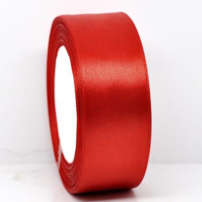 25 ярдов 1 рулон 1-1/2 «широкий красный атласной лентой для упаковки Craft Свадебные Аксессуары ленты лук 38 мм