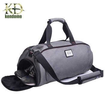 Hot Outdoor Waterproof Sports Gym Bag With Independent Shoes Pocket Women Fitness Yoga Training Shoulder Men Travel Handbag - discount item  29% OFF Sport Bags