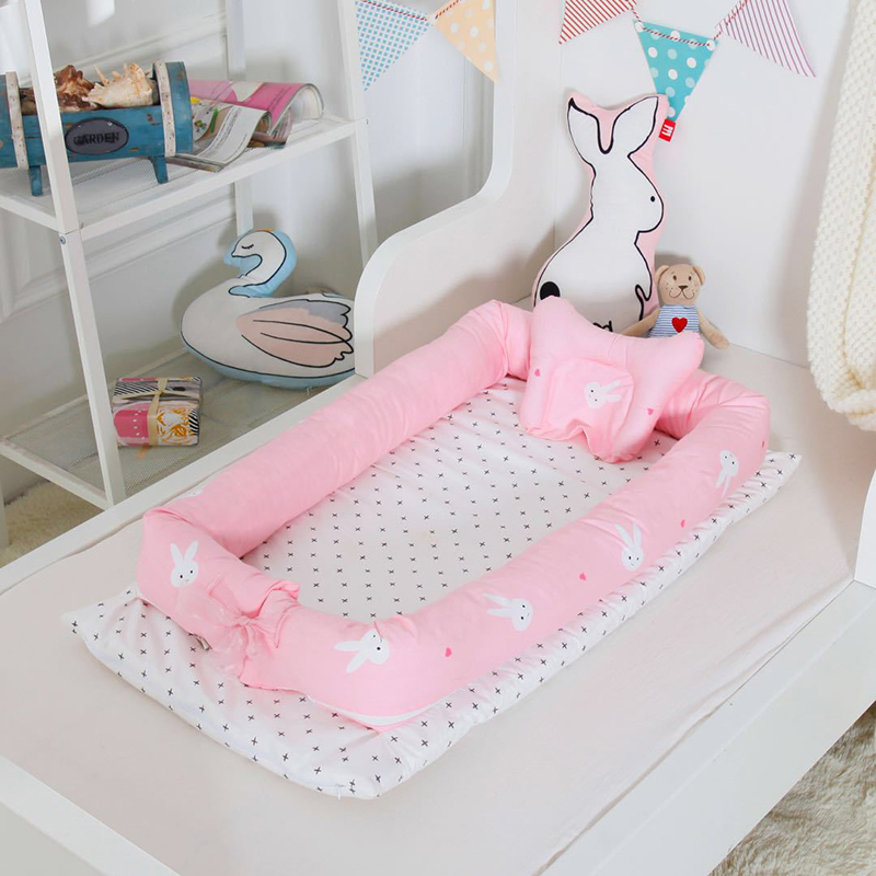 Baby Bionic Bed Crib Portable Washable Travel Isolated Bed Imitate The Uterus For 0-12 Months Children Infant Kids Cotton Crib