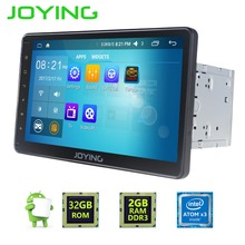 """Joying 2 gb + 32 gb 10.1 """"universal 1024*600 intel car stereo sistema de navegación gps android 6.0 quad core 2 din unidad principal"""