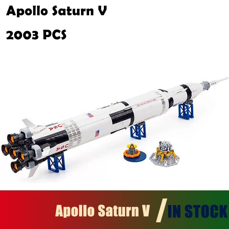 Здесь продается  Compatible with lego Model Building Blocks toys Creative 37003 Apollo Saturn V Launch Vehicle 21309 Educational toys hobbies  Игрушки и Хобби