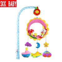 Infant baby music electric rotating fairy tale bed bell car hanging bed hanging toys