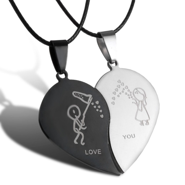 Broken Heart Necklace For Boyfriend And Girlfriend