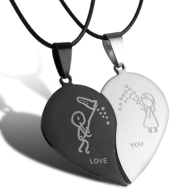 Pendant Necklace Set for Couple