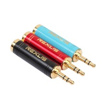 цена на REXLIS 3.5mm Male to 6.5 mm Female Adapter 3.5 plug to 6.35 Jack Stereo Speaker Audio Adapter converter for Phone Microphone PC