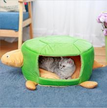 NEW Creative Cartoon Dog Bed House Cat Kennel Turtle Bed for Small Medium Pet S M 3 Color