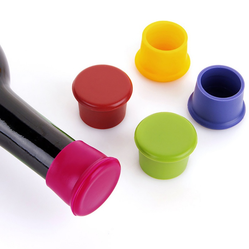 5 Colors Wine Bottle Stopper Silicone Preservation Wine Stoppers Champagne Stopper Beverage Closures Kitchen Accessory in Other Utensils from Home Garden