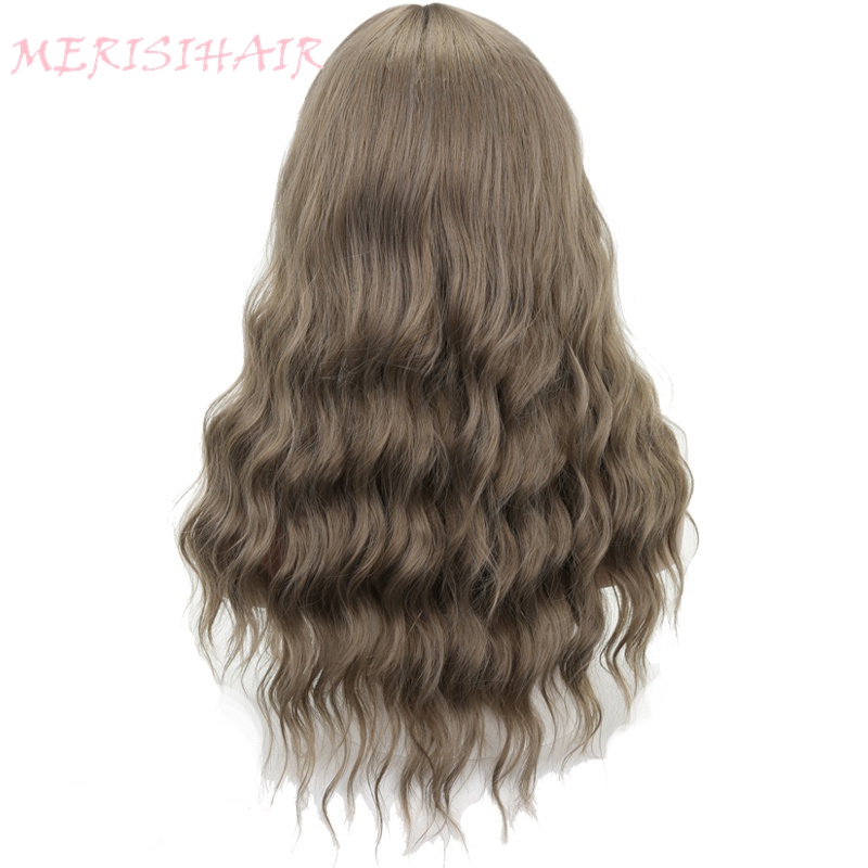 MERISI HAIR Long Wavy Wig Qing Mu Color 8Colors Available Wigs For Women Synthetic Hair High Temperature Fiber Average Size