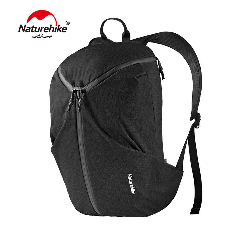 Naturehike Laptop Backpack with USB Charging Cable Water Resistant Polyester Travel Hiking Backpack 3 zipper