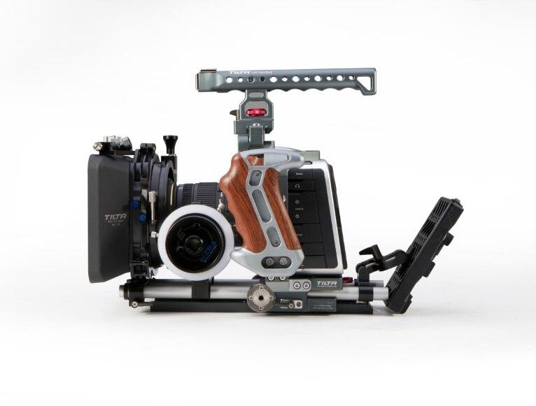 Tilta BMCC rig Pro kit for BlackMagic Camera Cage /A B follow focus / 4*4 portable Matte box /power supply vitopal portable dslr camera bmcc cage for 5d2 5d3 70d camera with 15mm rod block rig