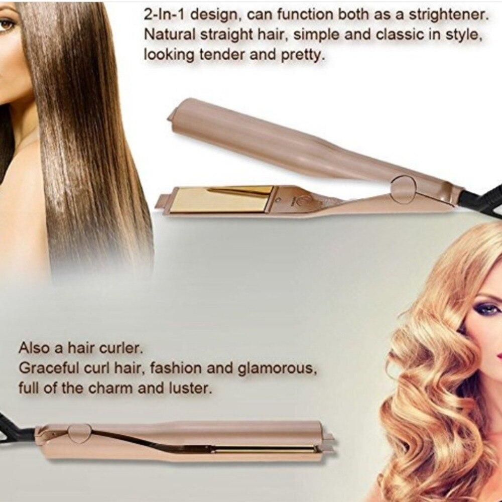 2In1 Cheveux Fer À Friser Cheveux Bigoudi Chauffage Soins des Cheveux Styling Outils Waver Fer À Friser Cheveux Styler redresseur Électricité