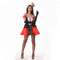Women Sexy Cosplay Black Red Queen Princess Costume Fancy Dress Halloween Outfit