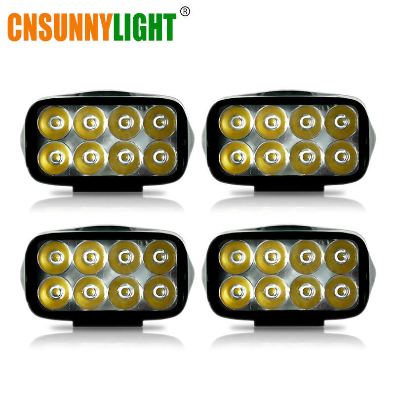 CNSUNNYLIGHT 4pcs 4inch Car Led Work Light Lamp Bars 4x4 ATV LED Working Lights Truck 12V Tractor Offroad Driving Fog Spotlights