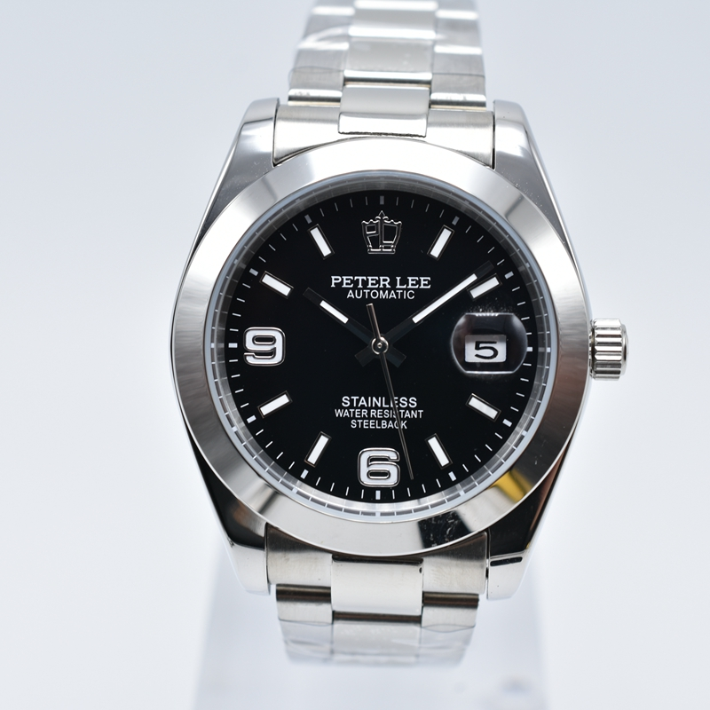 HTB1Voq3hKuSBuNjy1Xcq6AYjFXaZ PETER LEE Automatic Mechanical Mens Watches Top Brand Luxury Male Clocks Full Steel Watch Classic Fashion Men Watch reloj hombre