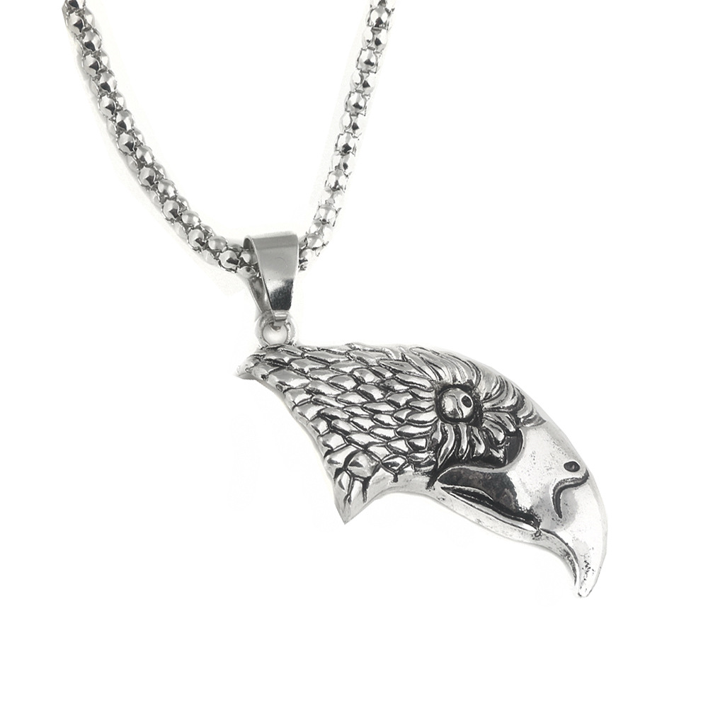 SAVORI Classic Move TV Song of Ice and Fire Game of Thrones Viking Eagle Head Pendant Alloy Necklace for Women Men Drop shipping