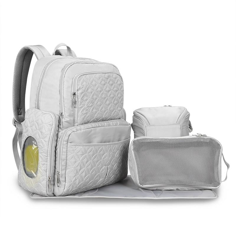5Pcs/set Baby Diaper Bag Fashion Mummy Maternity Nappy Bags Large Capacity Multifunctional Portable Travel Backpack MBG01585Pcs/set Baby Diaper Bag Fashion Mummy Maternity Nappy Bags Large Capacity Multifunctional Portable Travel Backpack MBG0158