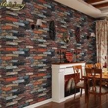 купить Modern Vintage Brick Wallpaper for walls 3 d Rustic Brick Texture Vinyl Rolls Backdrops Decoration papel de parede3d Wall Paper по цене 2344.72 рублей