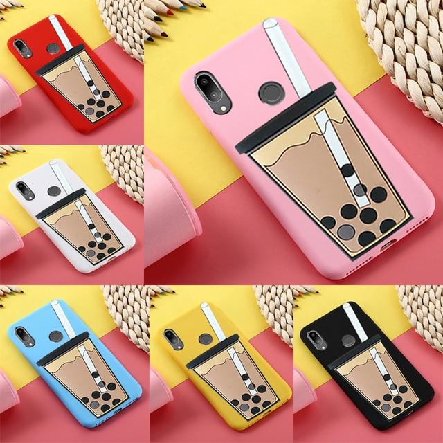Ốp Lưng dẻo Silicone Huawei P9 Lite P10 LITE P20 Pro Honor 9 Giao Phối 10 Lite Y5 2017 Ốp Lưng 3D Hoạt Hình mèo may mắn Bao Y6 2017