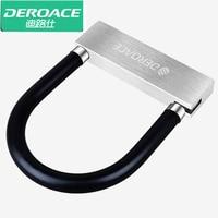 DEROACE Bicycle Bike Lock Theft ProtectionSecurity Locks U Magnetic Code Locks Code Bicycle Lock Bracket Bicycle Accessories