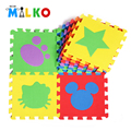 DIY World 6 pcs Puzzle Eva Foam Material Play Mat For Infant And Kid Jigsaw Pad Floor For Baby Games Indoor Pattern Animal