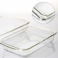 1L 1 5L Rectangle Tempered Glass Non Stick Baking Pan Cake Mold Dish Bread Fish Plate