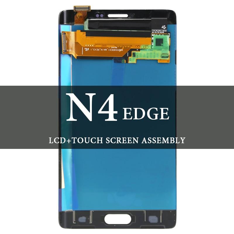 Pour Samsung Galaxy Note 4 Edge 5.6 ''N9150 N915F N915 LCD gris blanc écran d'affichage testé AMOLED pièces de rechange assemblée