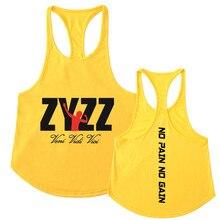 Мужские безрукавки ZYZZ, летние хлопковые мужские майки, одежда для бодибилдинга, майки для фитнеса