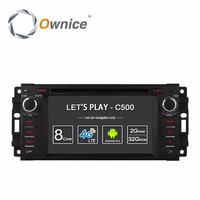 Ownice C500 Android 6.0 Octa Rdzeń samochodowy odtwarzacz dvd dla Jeep podróż compass wrangler grand 2015 patriotą gps navi radio 4G LTE SIM