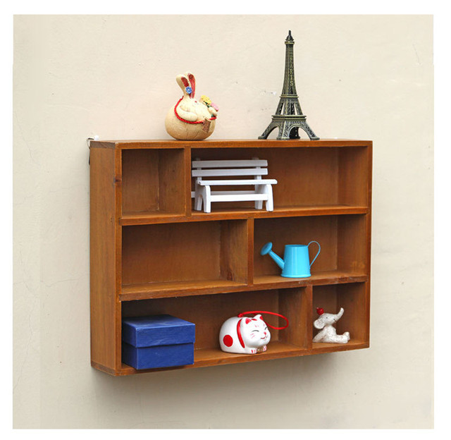 Home Decor Bedroom/Living Room Furniture Vintage Wall Shelf Bookshelf  Durable Kitchen Storage Racks Decorations