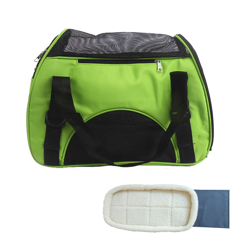 Folding Pet Carry Bag Oxford Ademend Mesh Cat Carriers Buiten Portable Dog Reistas Waterdicht