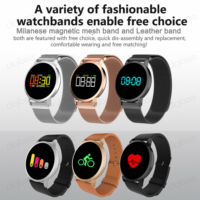 IP67 Waterproof Mutiple Sport Mode Bracelet Heart Rate Monitor Blood Pressure Oxygen Fitness Tracker Smart Watch for IOS Android