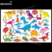 SHNAPIGN Jurassic Dinosaur Child Temporary Tattoo Body Art Flash Tattoo Stickers 17x10cm Waterproof Styling Henna Tatoo Sticker