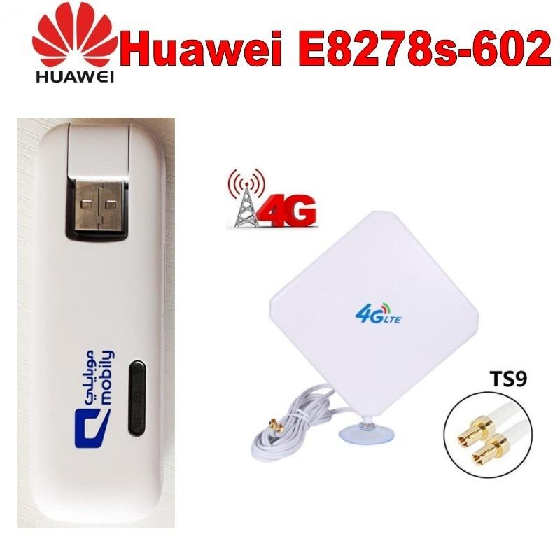 Huawei E8278 Modem USB Dongle Mobile Wifi 4G USB Stick - NEW UNLOCKED+4G TS9 35DBI Antenna unlocked 4g lte huawei e5573s 320 mobile wifi modem 35dbi dual ts9 4g antenna