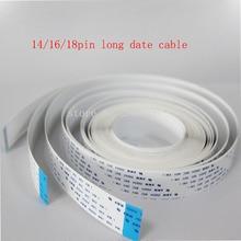 free shipping!14Pin 5.5meters same direction printer date cable for Infiniti/Icontek/Phaeton/Liyu long flat cable  same direction бордовый