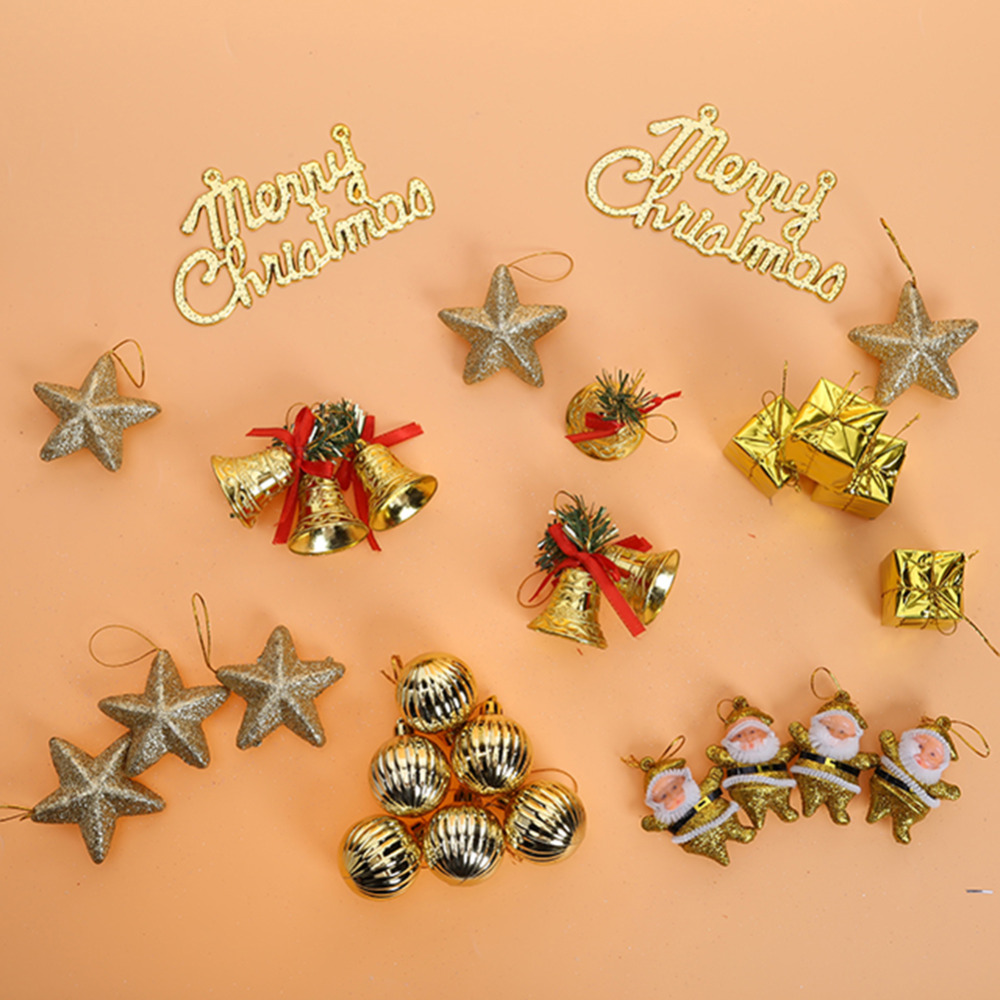 Pack Christmas Ornaments Gift Box Sparkling Ball Star For Christmas  Tree Decoration Hanging Pendant