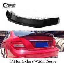 W204 карбоновый спойлер заднего багажника, крыла для Mercedes C Class W204 купе 2007-2011