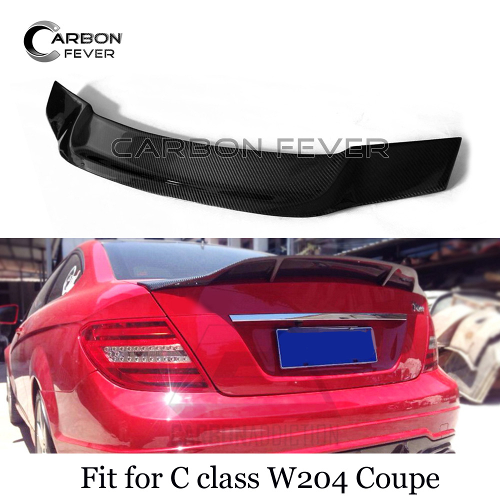 C74 Style Rear Trunk Spoiler Wing Carbon Fiber For Mercedes C Class W204 07-14