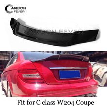 цена на W204 Carbon Fiber Rear Trunk Spoiler Wing For Mercedes C Class W204 Coupe 2007 - 2011
