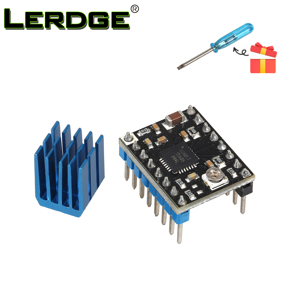 LERDGE A4988 Stepper Motor Driver Module Med New Aluminum HeatSink 3D Printer Parts 1PCS