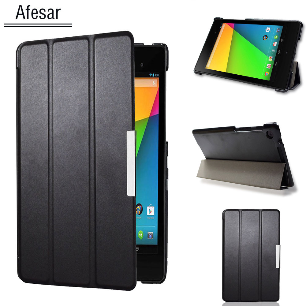 Nexus 7 2nd Smart leather cover case for Asus Google Nexus 7 FHD 2nd (2nd Gen.2013) ultra slim flip book case magnet auto sleep цена