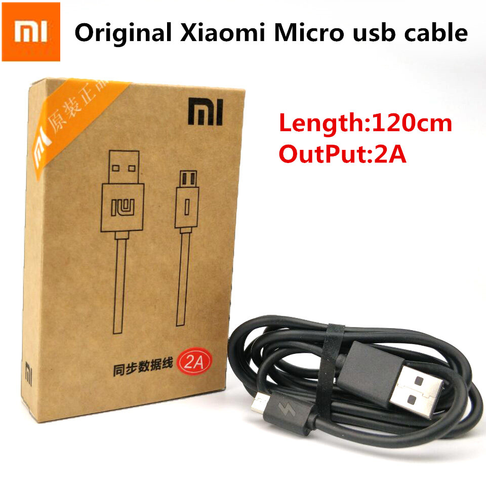 Original XIAOMI Charger Cable Redmi 4 4x 1s 2s 3s note 4 4x 2 3 4 mi 4 3 2 Smartphone 2A Fast Charge Micro Usb Cables