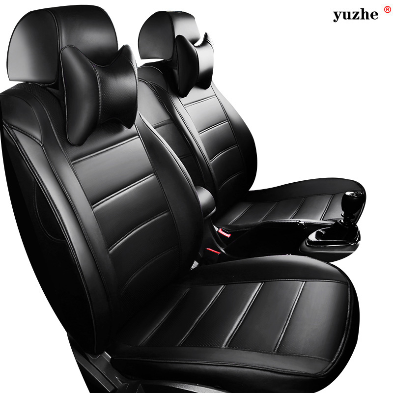 Leather car seat cover For Toyota RAV4 PRADO Highlander COROLLA Camry Prius Reiz CROWN yaris LAND CRUISER accessories styling for toyota highlander e z prius alphard crown camr rei corolla prodo land cruise previa daytime running light