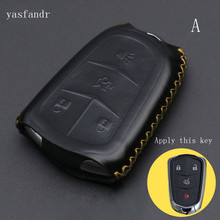 car key cover High Quality For Cadillac CTS XTS ATS ATS-L XLS SRX Case  Protective shell Bag Styling 4 Button car key cover case high quality for cadillac escalade atsl srx xts sls cts sts ats 4 buttons key shell cover bag