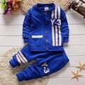 2016 Novo Outono Esportes Dos Meninos de Manga Comprida Terno Do Bebê Define Bebê camisa e Calças de Vestuário Conjunto de Roupas para Crianças Bebê Menino Roupas